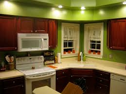 awesome cool interior kitchens color with modern green and brown