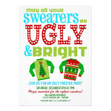 sweater invitations cards by design