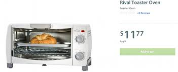 Oven Toaster Walmart Walmart Canada Deals Rival Toaster Oven 11 77 Canadian