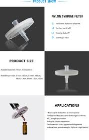 china laboratory suppliers nylon syringe filter for hplc