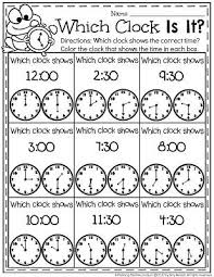 telling time worksheets telling time worksheets and clock