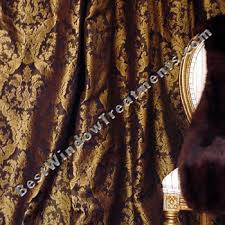 Demask Curtains Ready Made Black Gold Damask Drapery Curtain Swatches