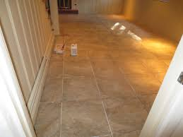 how to tile a large basement floor part 3 grout and caulk youtube