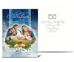 catholic christmas cards holy family winter christmas card set