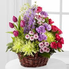 flowers for funeral services truley loved basket for funeral flowers by steen