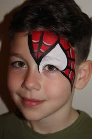 spiderman eye design face painting pinterest face painting