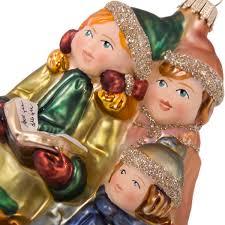 krebs glas lauscha collectable glass children carol singers 14cm