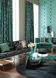 wohnzimmer türkis türkise vorhänge frische farbe im raum freshouse