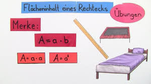 rechteck fläche berechnen flächeninhalt eines rechtecks übung mathematik lernen
