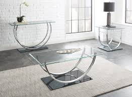 Chrome And Glass Sofa Table Steve Silver Natalie Glass Top End Table W Chrome Base Beyond Stores