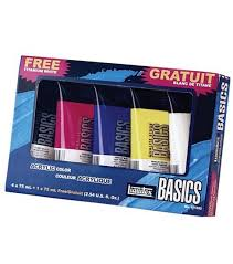 liquitex basics acrylic paint set 75ml 5pk joann