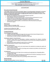 Sample Resume For Accountant by Sample For Writing An Accounting Resume