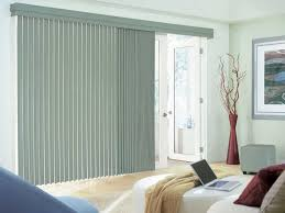 sliding glass doors with blinds between library living