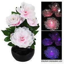 color changing lava l rgb colour changing flower vase mood light display led fibre optic