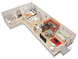 1 Bedroom Floor Plans by 1 U0026 2 Bedroom Loft Apartments In Atlanta Mariposa Lofts