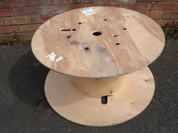 wooden reclaimed cable reel drum coffee table kids table gym