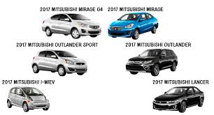 mirage mitsubishi 2017 2017 mitsubishi new model highlights