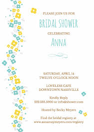 registry for bridal shower bridal shower invitation wording
