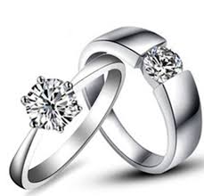 diamond couple rings images Amazing design real solid 18k 750 white gold couple rings jpg