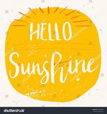 sunshine invitation unique hand drawn lettering poster phrase stock vector 479092048