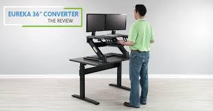eureka ergonomic height adjustable standing desk eureka sit stand desktop 36 erk cv pro36 review pricing