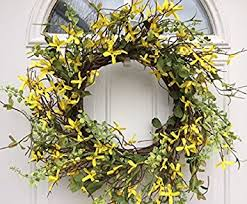 forsythia wreath signs of yellow forsythia wreath for