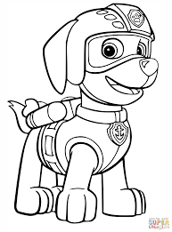 paw patrol coloring pages rubble coloring