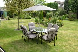 outdoor iron table and chairs quality black grey padded 6 seater 8 piece metal garden dining set