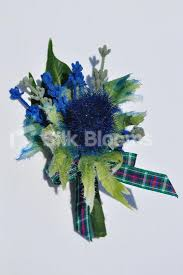 wedding flowers buttonholes shop scottish inspired navy blue sea thistle and