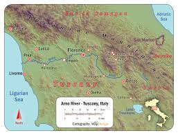Italy Map Tuscany by Leonardo Da Vinci Rivers Water Science And Art Part 3
