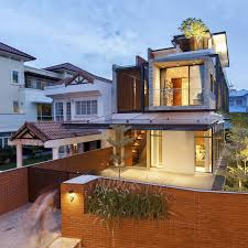 Modern Home Design With Semi Detached Concept Percieved A Siamese - Concept home design
