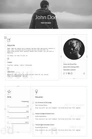 Make Your Own Resume Online by 15 Best Html Resume Templates For Awesome Personal Sites