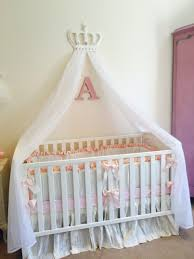 Princess Bed Canopy Bedding Tasty Cot Crib Princess White Pink Bed Canopy Crown Argos