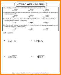 8 decimal division worksheet media resumed