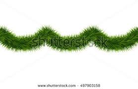 vector realistic seamless tinsel isolated on stock vector