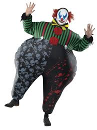 Blow Halloween Costume Halloween Inflatable Clown Costume 25 Trick Lots Treats