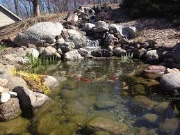 backyard fish pond and waterfall c e pontz sons landscape