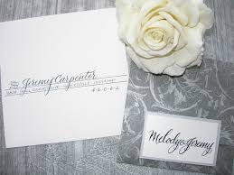 Post Wedding Invitations Wedding Calligraphy By Jane Farr Indianapolis Wedding Invitation