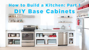 Building A Bar With Kitchen Cabinets The Total Diy Kitchen Part 1 Base Cabinets Youtube