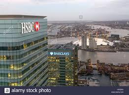 hsbc siege hsbc et barclays bank siège à canary wharf à londres l o2 arena