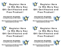 mary kay birthday certificates mary kay gift certificate