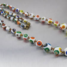 art glass necklace images Best millefiori art glass products on wanelo jpg