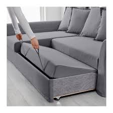 HOLMSUND Corner Sofabed Nordvalla Medium Gray IKEA - Sofa bed assembly