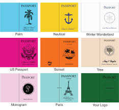 printable passport template kids