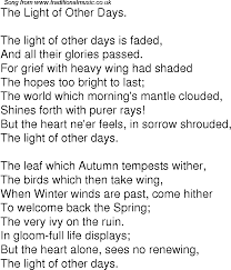 the light of other days old time song lyrics for 04 the light of other days