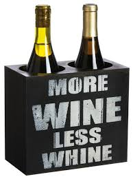 humorous more wine less whine bottle holder contemporary wine