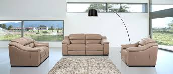 Power Sofa Recliners Leather Modern Power Reclining Leather Taupe Sofa Set
