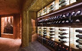 the wine rack at the ultra luxury ski chalet zermatt peak zermatt