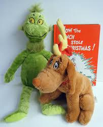 dr seuss how the grinch stole christmas hc book w plush grinch