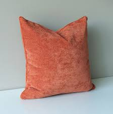 orange velvet throw pillow cover kravet fabric u2013 onehappypillow